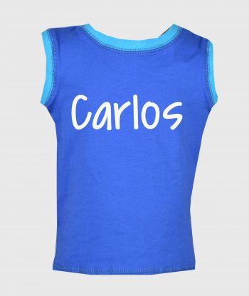 Sleeveless T-shirt Blue