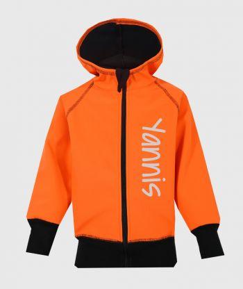 Waterproof Softshell Hoodie Neon Orange