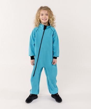 Waterproof Softshell Overall Comfy Ice Blue Bodysuit