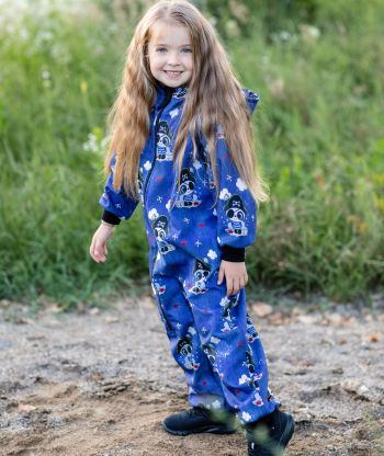 Waterproof Softshell Overall Comfy Pirate Bear Jumpsuit