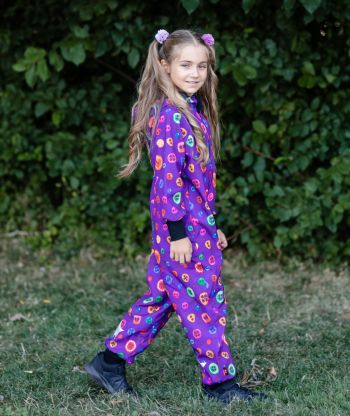 Waterproof Softshell Overall Comfy Colorful Buttons Jumpsuit