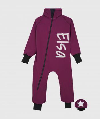 Waterproof Softshell Overall Comfy Burgundy Bodysuit