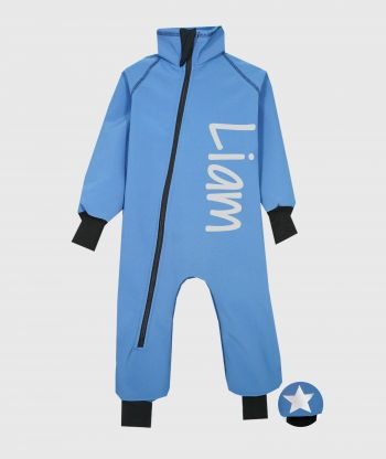 Waterproof Softshell Overall Comfy Sky Blue Bodysuit