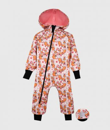 Waterproof Softshell Overall Comfy Foxes Jumpsuit