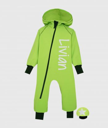 Waterproof Softshell Overall Comfy Lemongrass Jumpsuit