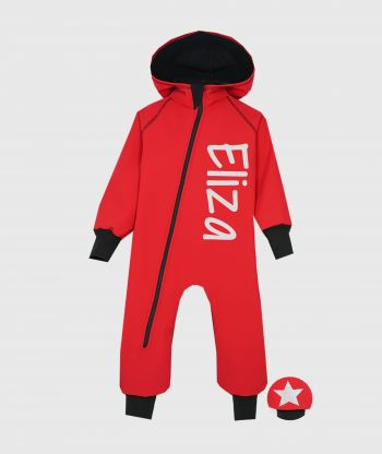 Waterproof Softshell Overall Comfy Red Jumpsuit