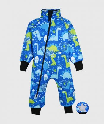 Waterproof Softshell Overall Comfy Dino Drawings Bodysuit