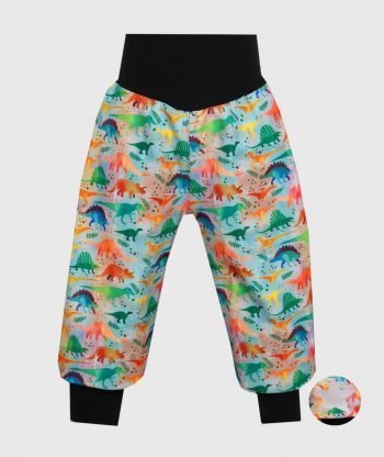 Waterproof Softshell Pants Colorful Dinos