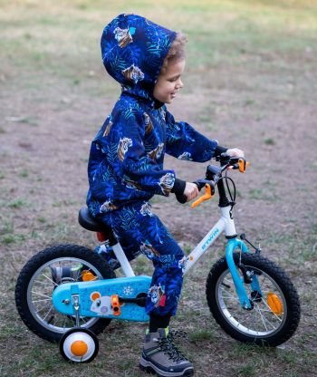 Waterproof Softshell Overall Comfy Blue Tiger Jumpsuit